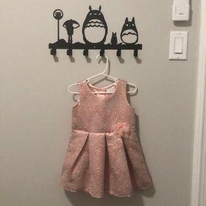 Pink floral jacquard dress